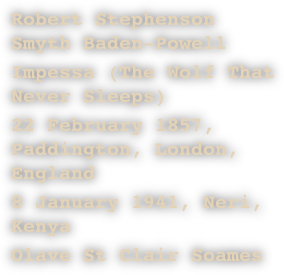 Robert Stephenson Smyth Baden-Powell